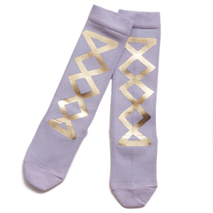 Wovenplay Ribbon Socks - Orchid/Gold