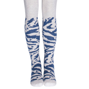 Popupshop Organic Tiger Tights - Blue