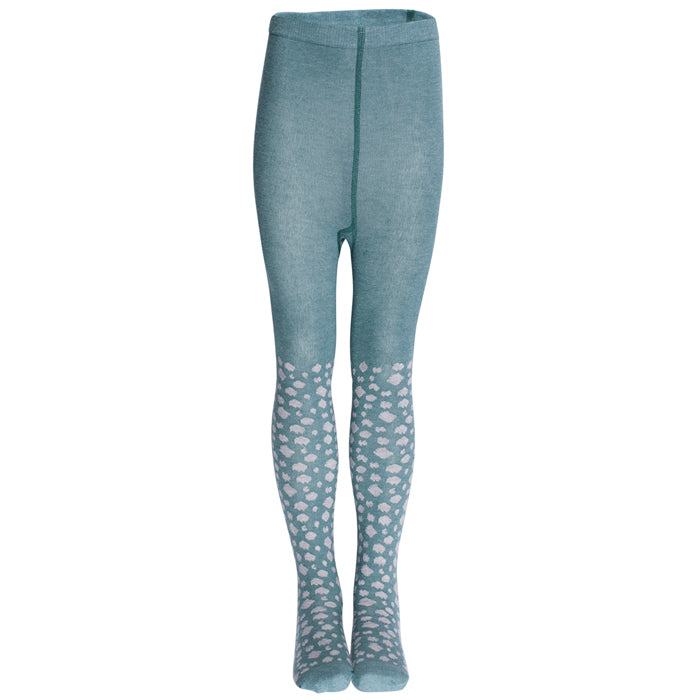Popupshop Organic Leopard Tights - Green