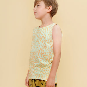 Little Man Happy Organic Jungle Maze Tank - Green