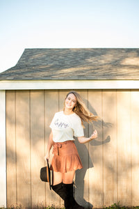 Let's Dance Suede Skirt