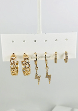 Load image into Gallery viewer, Trend Setter Gold Earrings Set