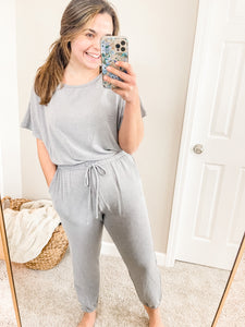Cozy Goals Jumpsuit Lounge