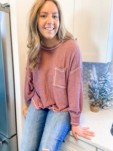 Relax Then Repeat Waffle Knit Sweater