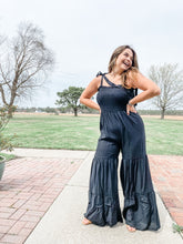 Load image into Gallery viewer, Summertime Romance Black Jumpsuit