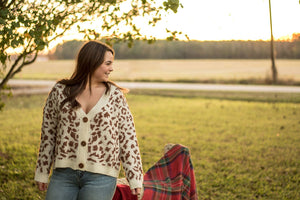 Cat Walk Cheetah Button Cardigan