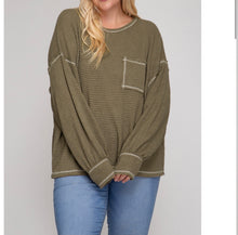 Load image into Gallery viewer, Relax Then Repeat Waffle Knit Sweater