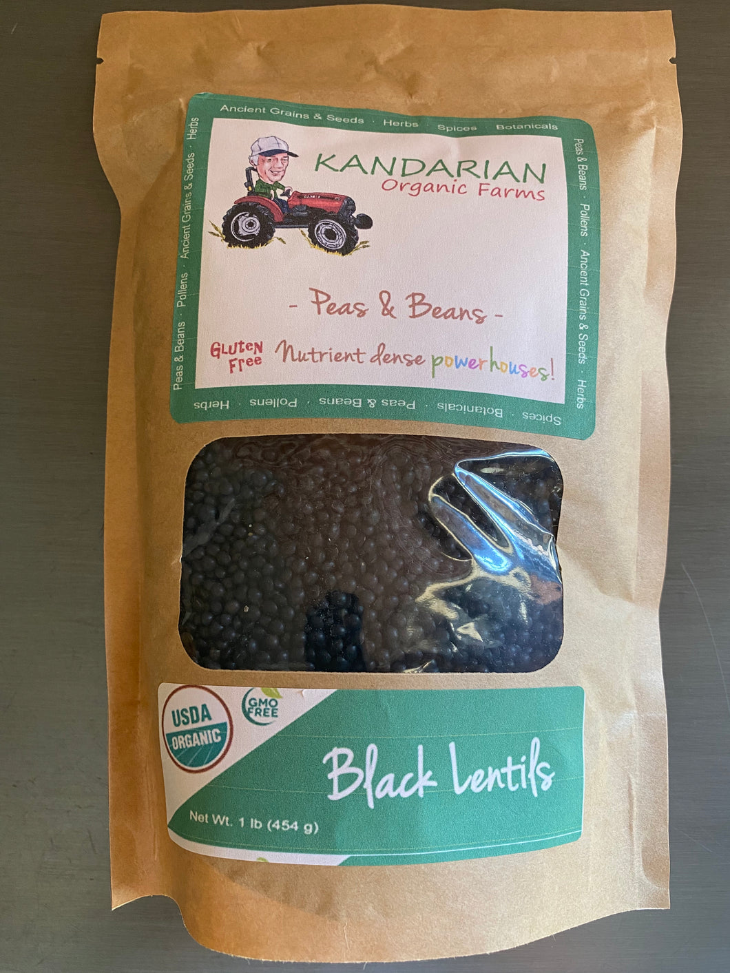 Organic Black Lentils from Kandarian Farms