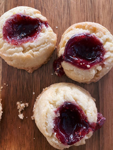 Lemon Raspberry Shortbread Cookies by Broadway Baker