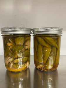 Pickled Okra and Brussels Sprouts by Coldwater Canyon