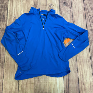 Athletic Jacket By Nike  Size: M - BRAND: NIKE STYLE: ATHLETIC JACKET COLOR: BLUE SIZE: M SKU: 257-257194-154