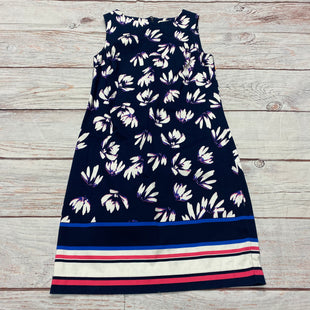 Primary Photo - BRAND: SAINT TROPEZ STYLE: DRESS SHORT SLEEVELESS COLOR: NAVY SIZE: XS OTHER INFO: PINK AND WHITE FLORAL PATTERN SKU: 257-257103-817