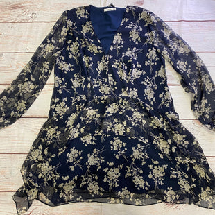 Primary Photo - BRAND:    CLOTHES MENTOR STYLE: DRESS SHORT LONG SLEEVE COLOR: NAVY SIZE: L OTHER INFO: COOPER ST - GREY FLORAL SKU: 257-257100-2091