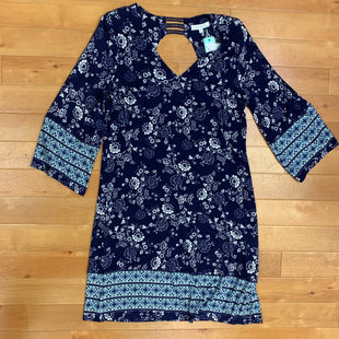 Primary Photo - BRAND: SKIES ARE BLUE STYLE: DRESS SHORT LONG SLEEVE COLOR: BLUE WHITE SIZE: S OTHER INFO: NEW SKU: 257-25748-5743