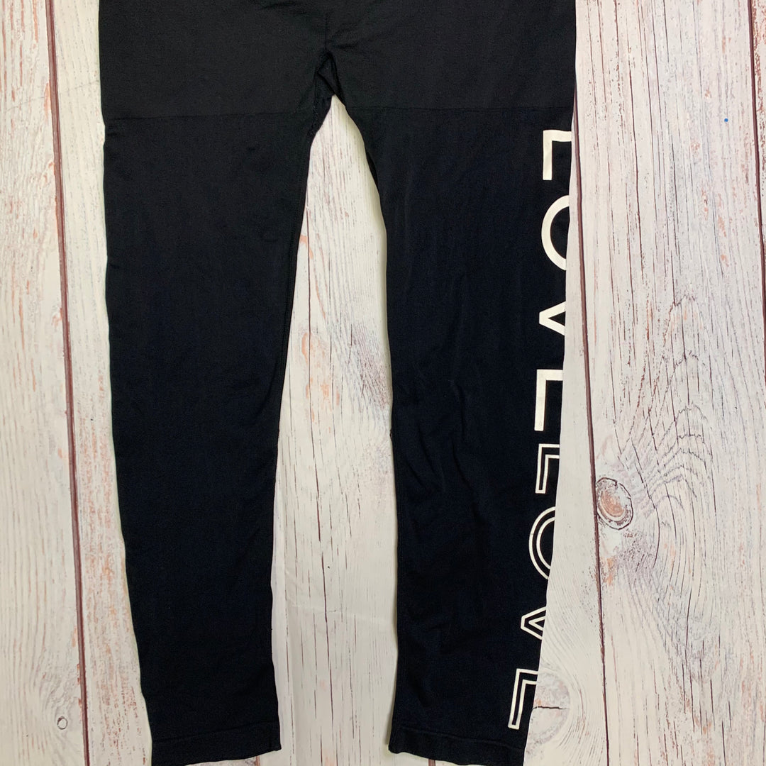 Athletic Pants By Soho Lady  Size: Plus - BRAND:    SOHO LADY<BR>STYLE: ATHLETIC PANTS <BR>COLOR: BLACK <BR>SIZE: PLUS <BR>OTHER INFO: SOHO LADY - OS, GREY WAIST BAND <BR>SKU: 257-25758-661