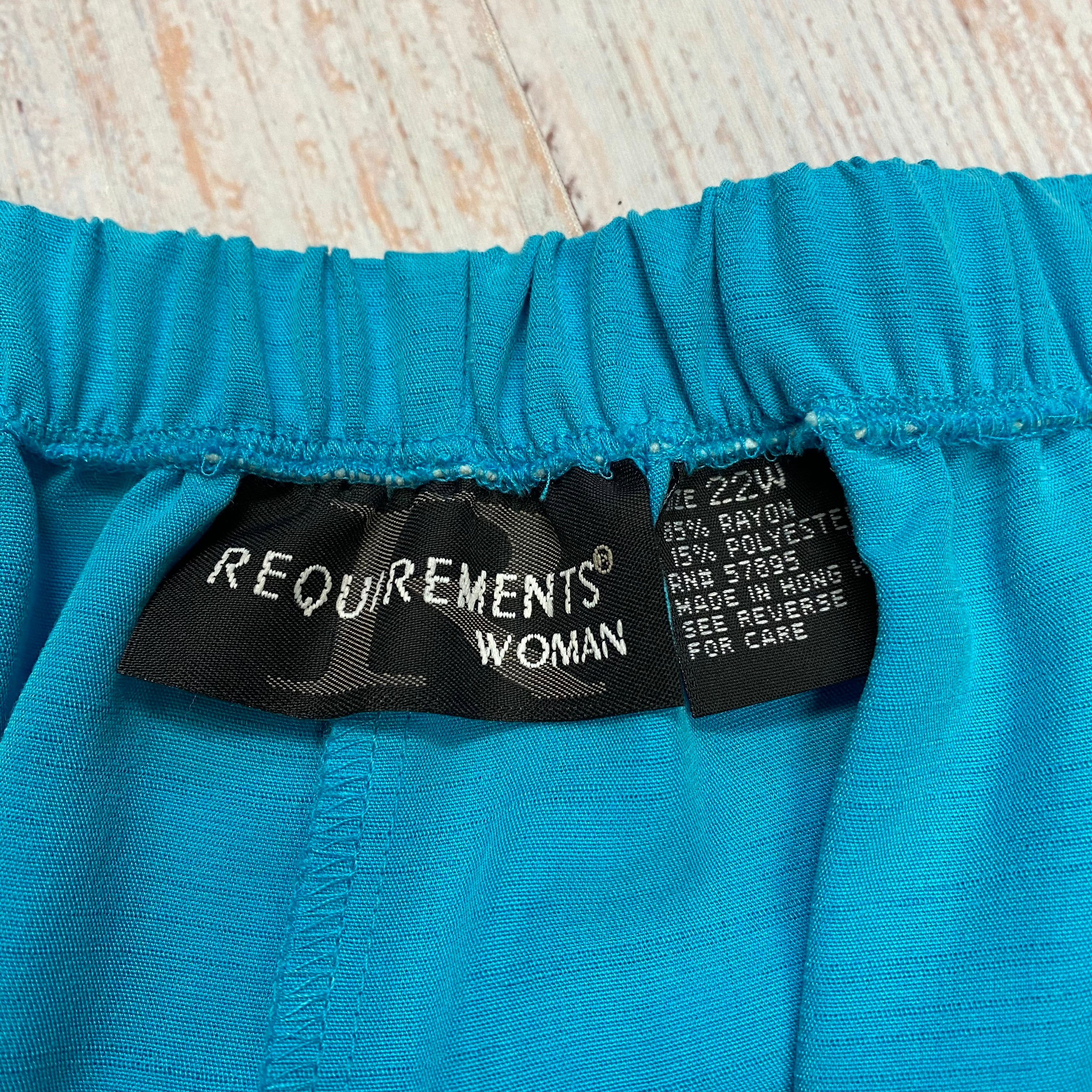 Photo #2 - BRAND: REQUIREMENTS <BR>STYLE: PANTS <BR>COLOR: BLUE <BR>SIZE: 3X <BR>SKU: 178-17824-8580