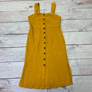 Primary Photo - BRAND: MADEWELL STYLE: DRESS LONG SLEEVELESS COLOR: YELLOW SIZE: XS OTHER INFO: BUTTON DOWN SKU: 257-257194-2178