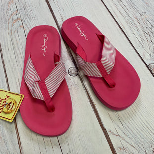 Primary Photo - BRAND:    PANAMA JACKSTYLE: FLIP FLOPS COLOR: PINK SIZE: 8.5 OTHER INFO: PANAMA JACK - STRIPPED THONGS SKU: 257-257100-949