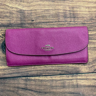 Primary Photo - BRAND: COACH STYLE: WALLET COLOR: RASPBERRY SIZE: LARGE SKU: 257-25748-6126