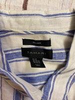 Photo #2 - BRAND: TAHARI <BR>STYLE: BLOUSE <BR>COLOR: STRIPED <BR>SIZE: 3X <BR>OTHER INFO: BLUE AND WHITE STRIPED <BR>SKU: 257-257194-336
