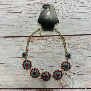 Primary Photo - BRAND:    CLOTHES MENTOR STYLE: NECKLACE COLOR: PURPLE OTHER INFO: PURPLE GOLD FLOWERS SKU: 257-25797-948