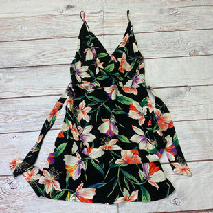 Primary Photo - BRAND: LUSH STYLE: DRESS SHORT SLEEVELESS COLOR: BLACK SIZE: M OTHER INFO: MULTI COLORED FLORAL PATTERN SKU: 257-257103-840