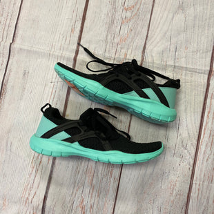 Primary Photo - BRAND: LA GEAR STYLE: SHOES ATHLETIC COLOR: BLACK SIZE: 9 OTHER INFO: BLACK AND AQUA DESIGN SKU: 257-25797-59