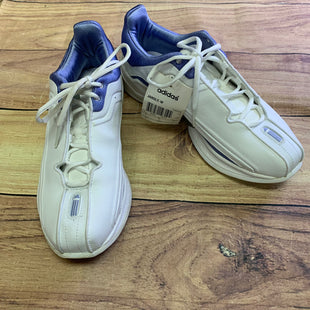 Primary Photo - BRAND: ADIDAS STYLE: SHOES ATHLETIC COLOR: WHITE SIZE: 7.5 OTHER INFO: NEW! PURPLE INSIDES, PURPLE ALONG SIDES SKU: 257-257108-50