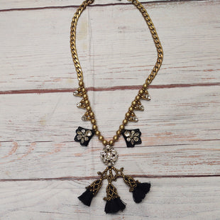 Primary Photo - BRAND: J CREW STYLE: NECKLACE COLOR: BRONZE OTHER INFO: BLACK TASSLES/CLEAR STONES SKU: 257-257100-1857