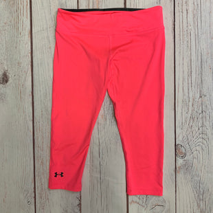 Athletic Capris By Under Armour  Size: S - BRAND: UNDER ARMOUR STYLE: ATHLETIC CAPRIS COLOR: NEON SIZE: S OTHER INFO: NEON PINK SKU: 257-257183-2241