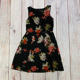 Primary Photo - BRAND: LOFT STYLE: DRESS SHORT SLEEVELESS COLOR: BLACK SIZE: XS OTHER INFO: WITH FLOWERS SKU: 257-257108-296