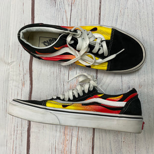 Shoes Athletic By Vans  Size: 7 - BRAND: VANS STYLE: SHOES ATHLETIC COLOR: BLACK RED SIZE: 7 SKU: 257-257100-1019