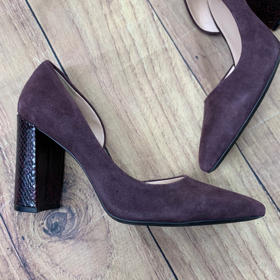Shoes High Heel By Nine West  Size: 8.5 - BRAND: NINE WEST <BR>STYLE: SHOES HIGH HEEL <BR>COLOR: PLUM <BR>SIZE: 8.5 <BR>SKU: 257-25781-4738