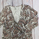 Top Long Sleeve By Talbots  Size: 1x - BRAND: TALBOTS <BR>STYLE: TOP LONG SLEEVE <BR>COLOR: PAISLEY <BR>SIZE: 1X <BR>OTHER INFO: TIE TOP <BR>SKU: 257-257194-1617