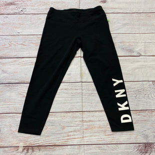 Primary Photo - BRAND: DKNY STYLE: ATHLETIC CAPRIS COLOR: BLACK SIZE: L OTHER INFO: WHITE DKNY ON LEG SKU: 257-257108-222