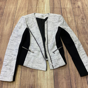 Primary Photo - BRAND: CALVIN KLEIN STYLE: BLAZER JACKET COLOR: WHITE BLACK SIZE: L OTHER INFO: SIZE 12 SKU: 257-25786-5517