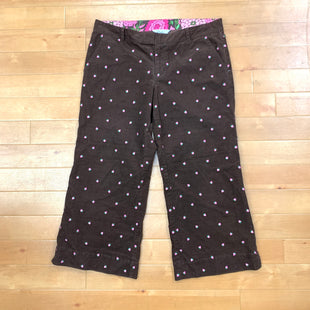 Capris By Lilly Pulitzer  Size: 8 - BRAND: LILLY PULITZER STYLE: CAPRIS COLOR: BROWN SIZE: 8 OTHER INFO: CORDOUROY SKU: 257-25748-4242