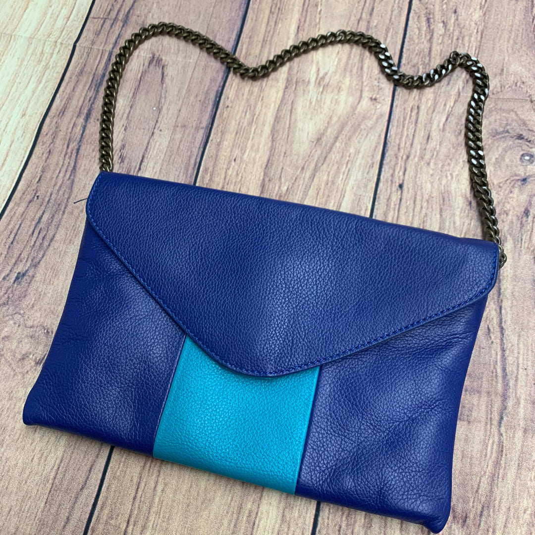 Clutch By J Crew - BRAND: J CREW <BR>STYLE: CLUTCH <BR>COLOR: BLUE GREEN <BR>SKU: 257-25748-6173