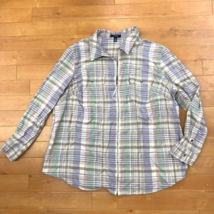 Top Long Sleeve By Chaps  Size: 2x - BRAND: CHAPS STYLE: TOP LONG SLEEVE COLOR: PLAID SIZE: 2X OTHER INFO: LAVENDER/PURPLE/GREEN/TAN SKU: 257-257183-2181