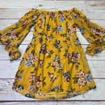 Photo #2 - BRAND: INDULGE <BR>STYLE: DRESS SHORT LONG SLEEVE <BR>COLOR: FLORAL <BR>SIZE: 3X <BR>OTHER INFO: FRILL SLEEVES/YELLOW/GREEN/RED <BR>SKU: 257-25774-16608