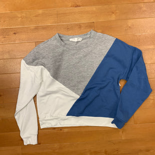 Primary Photo - BRAND: HIPPIE ROSE STYLE: SWEATER LIGHTWEIGHT COLOR: GREY WHITE SIZE: XS OTHER INFO: CROPPED/GRAY,WHITE,BLUE SKU: 257-25748-4403