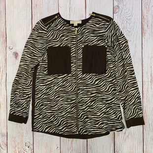 Primary Photo - BRAND: MICHAEL BY MICHAEL KORS STYLE: BLAZER JACKET COLOR: ZEBRA PRINT SIZE: M SKU: 257-257100-1800