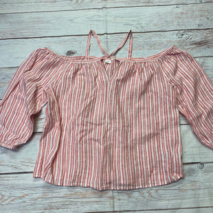Primary Photo - BRAND: GAP STYLE: TOP LONG SLEEVE COLOR: STRIPED SIZE: XL OTHER INFO: CRISS CROSS STRAPS-PINK/WHITE SKU: 257-25786-5531