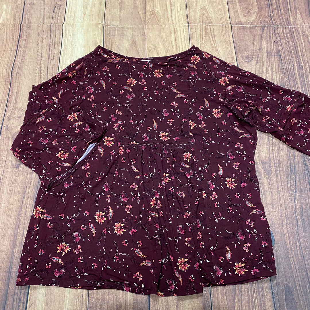 Primary Photo - BRAND: WESTPORT <BR>STYLE: TOP LONG SLEEVE <BR>COLOR: BURGUNDY <BR>SIZE: 1X <BR>SKU: 257-25748-7303