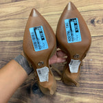 Shoes High Heel By Michael Kors  Size: 6.5 - BRAND: MICHAEL KORS <BR>STYLE: SHOES HIGH HEEL <BR>COLOR: TAN <BR>SIZE: 6.5 <BR>SKU: 257-257101-37