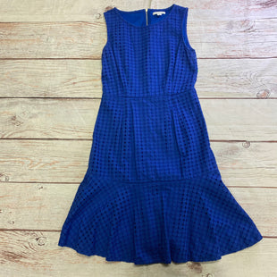 Primary Photo - BRAND: NEW YORK AND CO STYLE: DRESS SHORT SLEEVELESS COLOR: BLUE SIZE: XS OTHER INFO: TEXTURED DOTS SKU: 257-257103-910