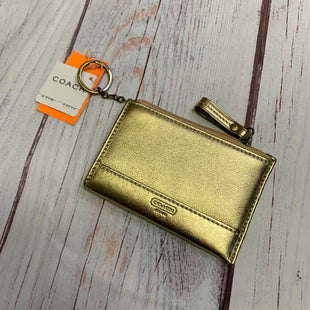 Primary Photo - BRAND: COACH STYLE: COIN PURSE COLOR: GOLD SIZE: SMALL SKU: 257-25758-537