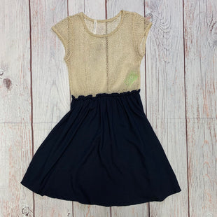 Primary Photo - BRAND: AUDREY STYLE: DRESS SHORT SLEEVELESS COLOR: NAVY SIZE: S OTHER INFO: TAN NETTING SKU: 257-25797-344
