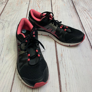 Shoes Athletic By Asics  Size: 9 - BRAND: ASICS STYLE: SHOES ATHLETIC COLOR: BLACK SIZE: 9 OTHER INFO: BLACK/GREY/PINK SKU: 257-257183-2110