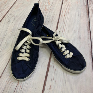 Shoes Athletic By Coach  Size: 8.5 - BRAND: COACH STYLE: SHOES ATHLETIC COLOR: NAVY SIZE: 8.5 SKU: 178-178102-49343